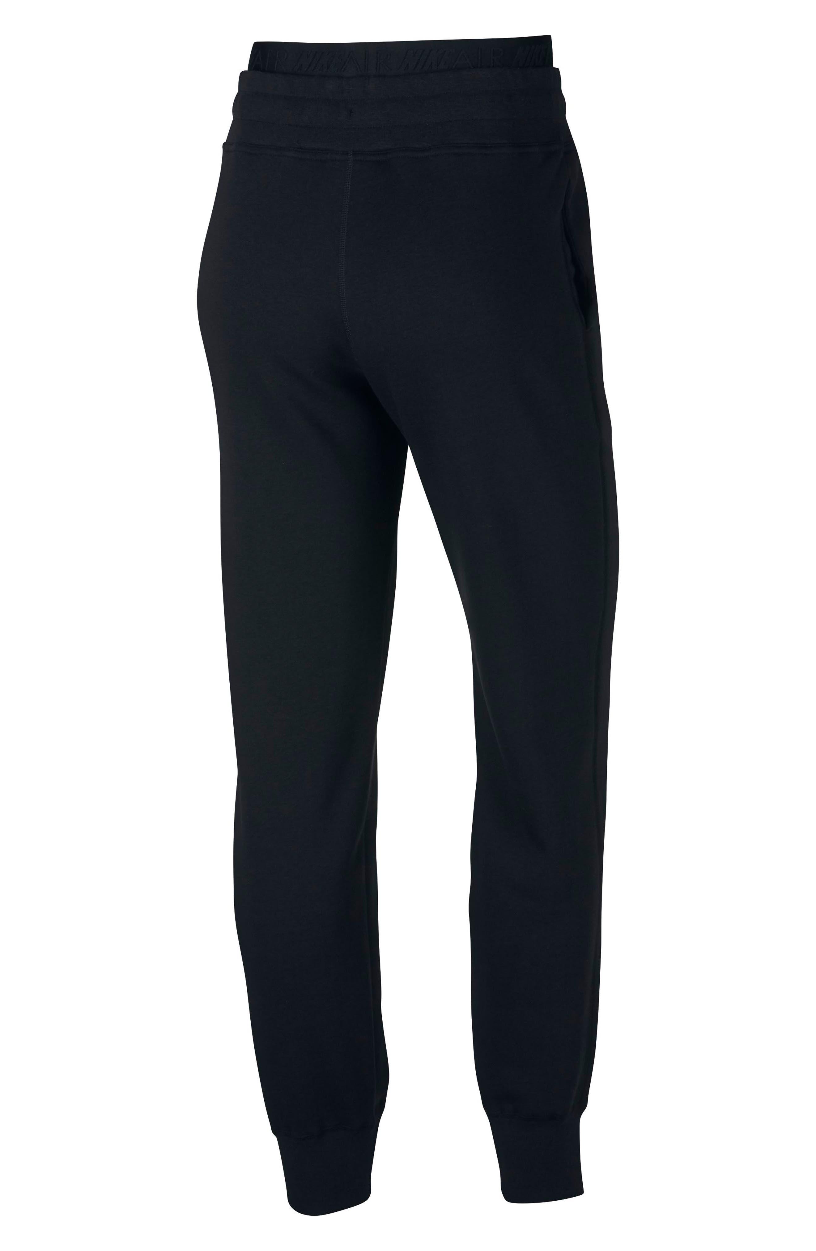 ,                             Sportswear Air Fleece Jogger Pants,                             Alternate thumbnail 10, color,                             BLACK/ WHITE