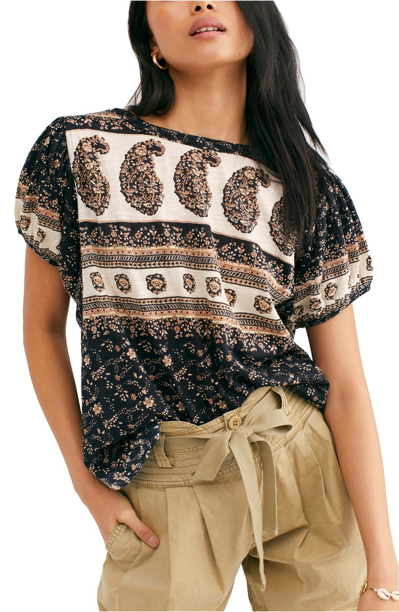 FREE PEOPLE Paisley Top, Main, color, BLACK COMBO