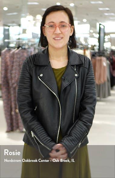 Kora Faux Leather Moto Jacket, sales video thumbnail