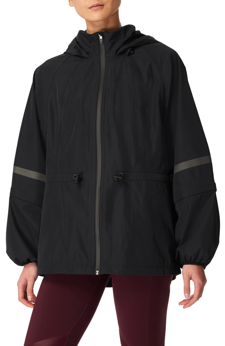 SWEATY BETTY Mission Performance Hooded Jacket, Main, color, BLACK