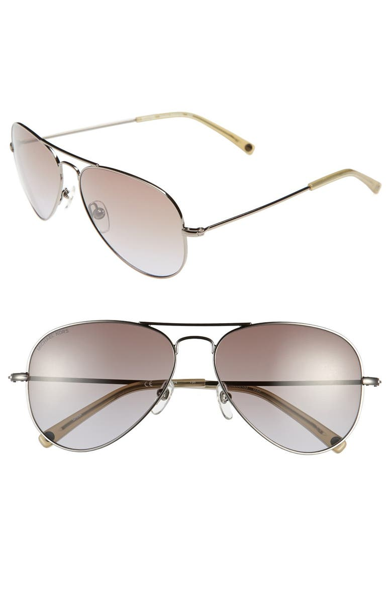MICHAEL MICHAEL KORS 'Rachel' 58mm Sunglasses, Main, color, 033