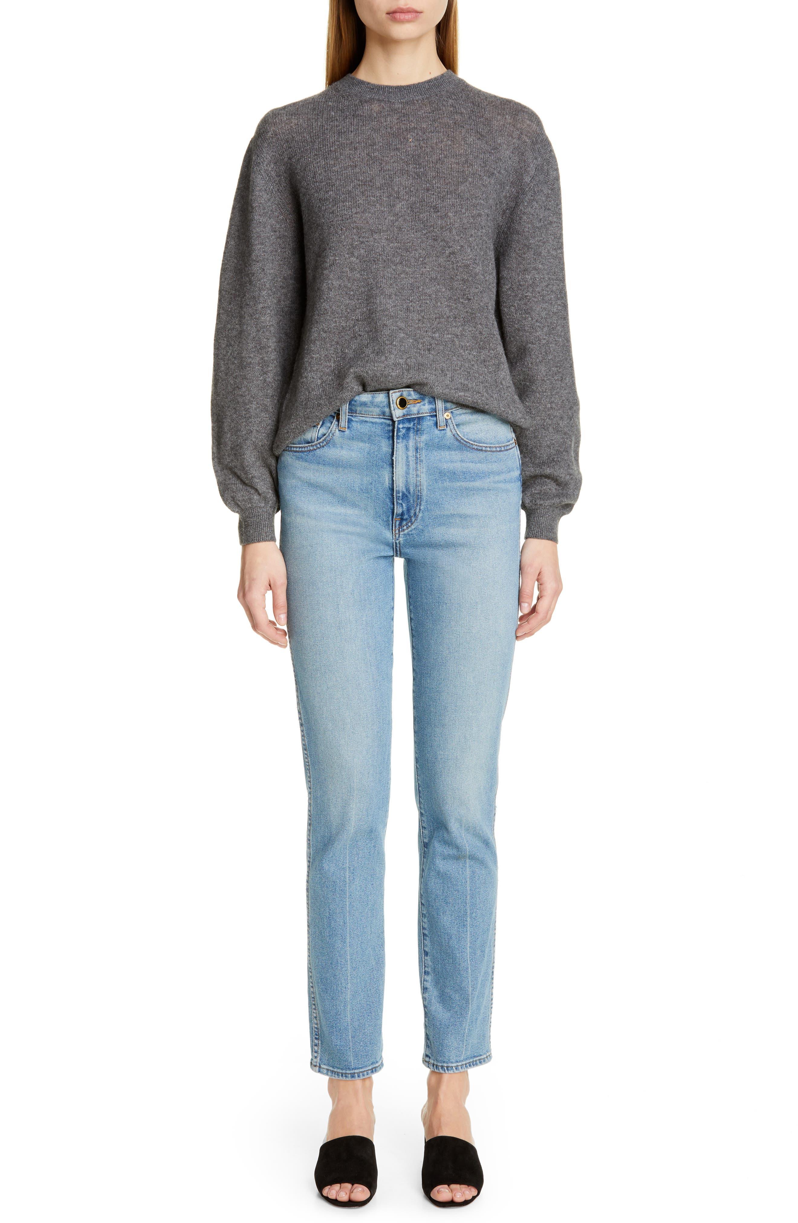 ,                             Viola Cashmere Sweater,                             Alternate thumbnail 8, color,                             GREY