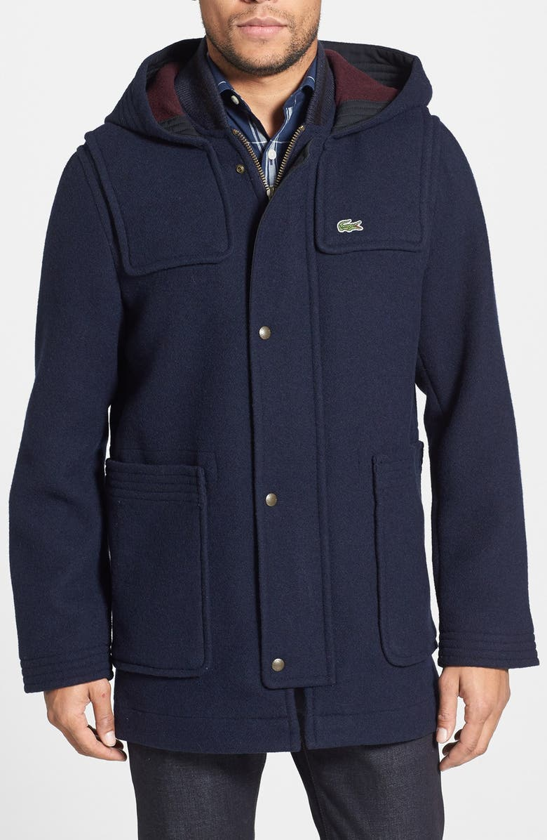 L Duffel ve Lacoste CoatNordstrom Wool Hooded Blend 8wOnk0P