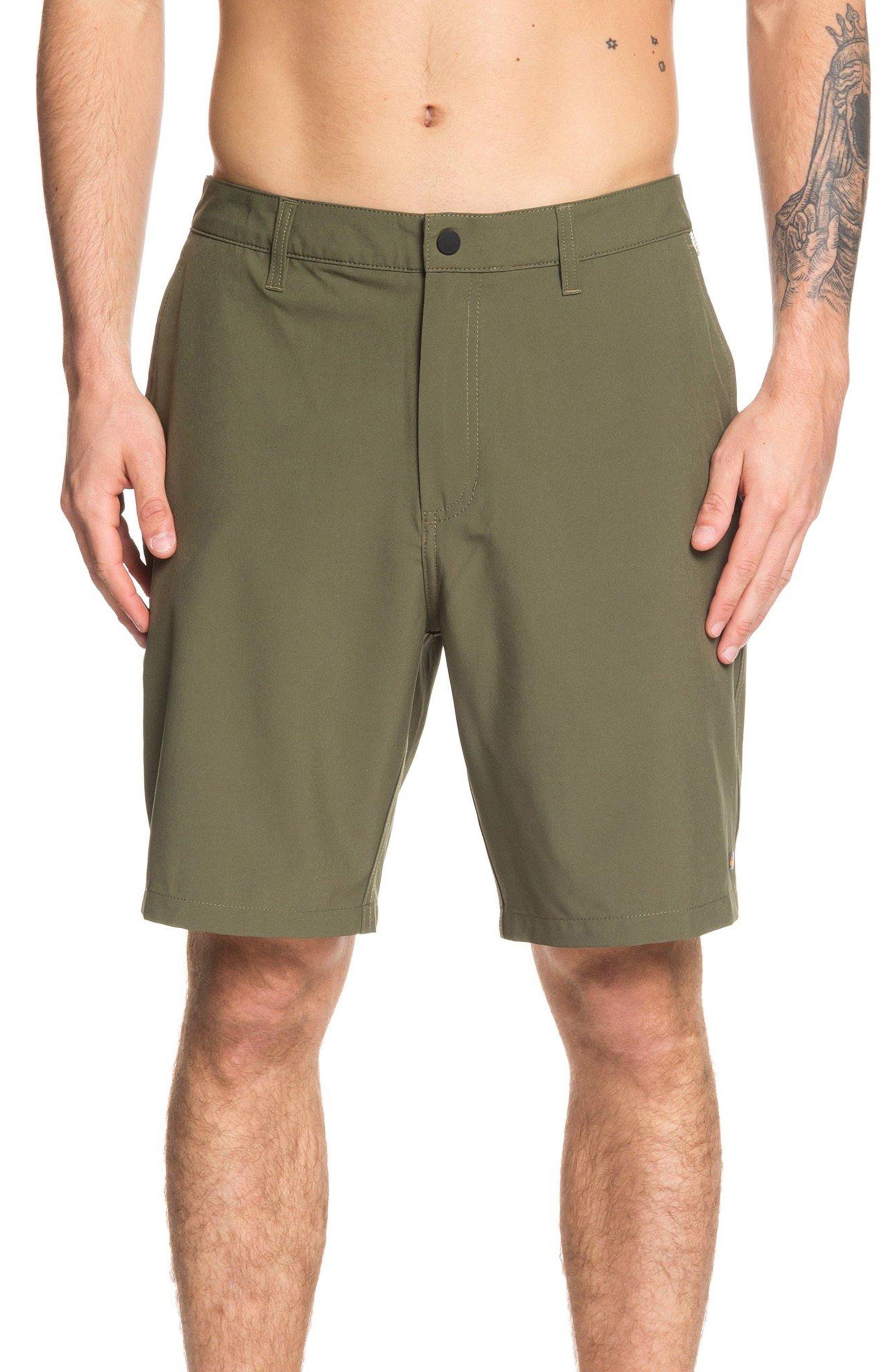 ,                             Backwater Amphibian Hybrid Shorts,                             Main thumbnail 1, color,                             IVY GREEN