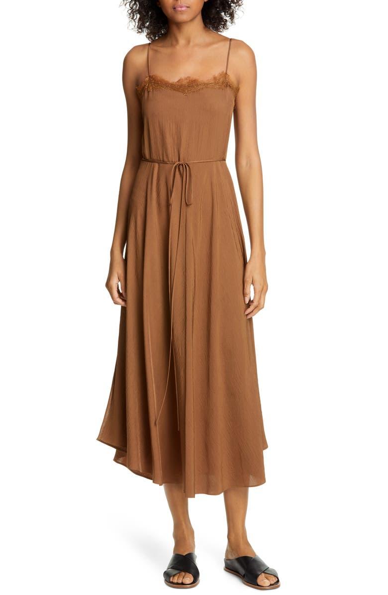 VINCE Lace Trim Midi Dress, Main, color, 242
