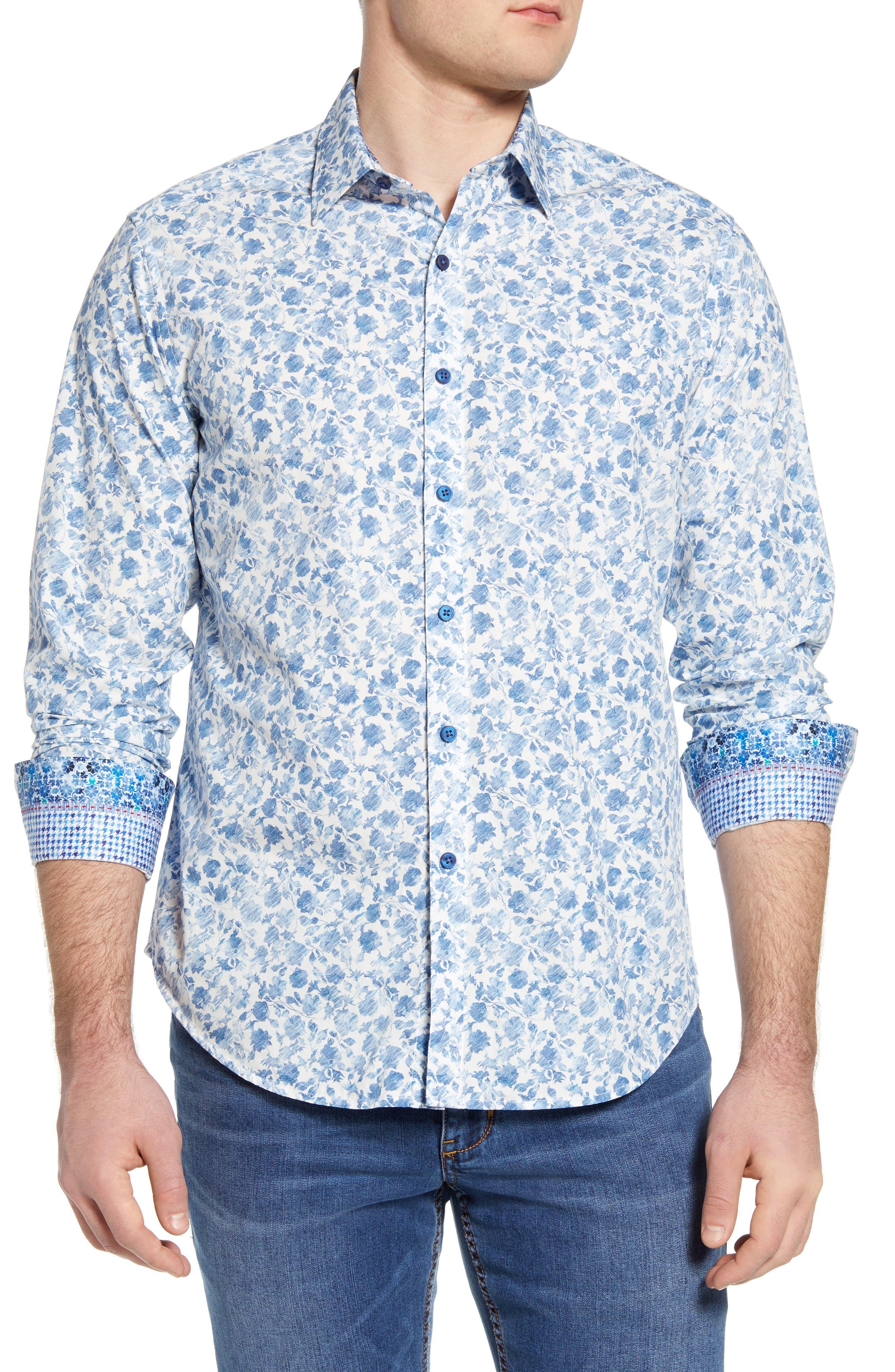 Image of Robert Graham Edelweiss Long Sleeve Woven Shirt