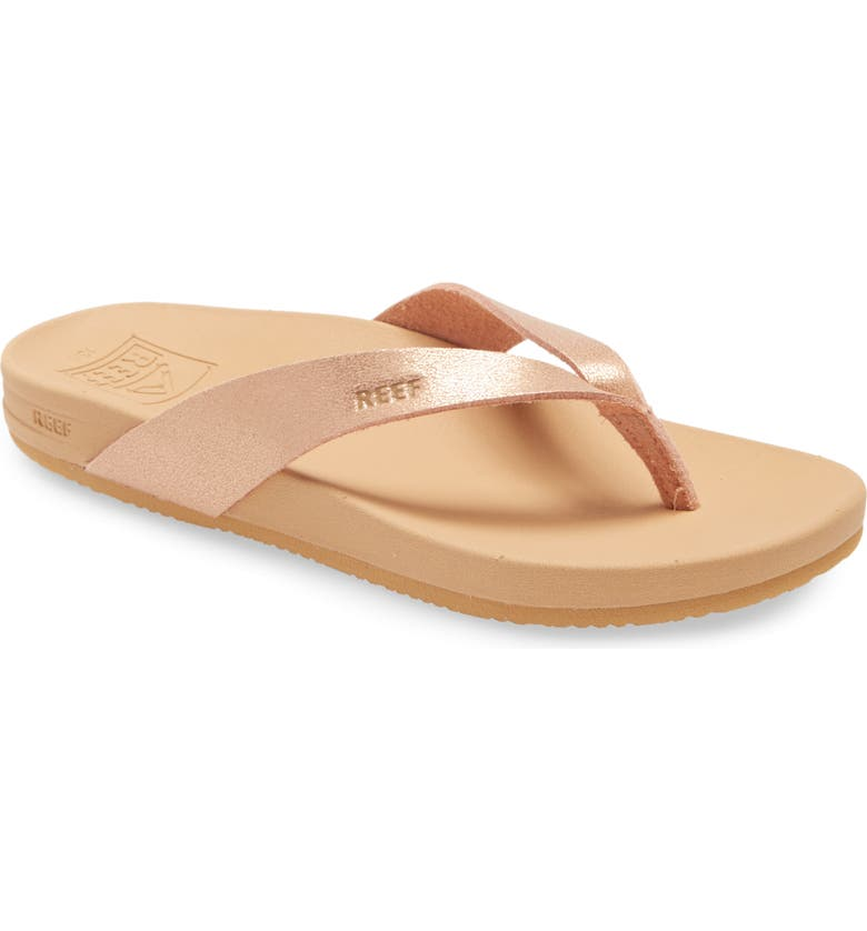 REEF Cushion Bounce Court Flip Flop, Main, color, ROSE GOLD