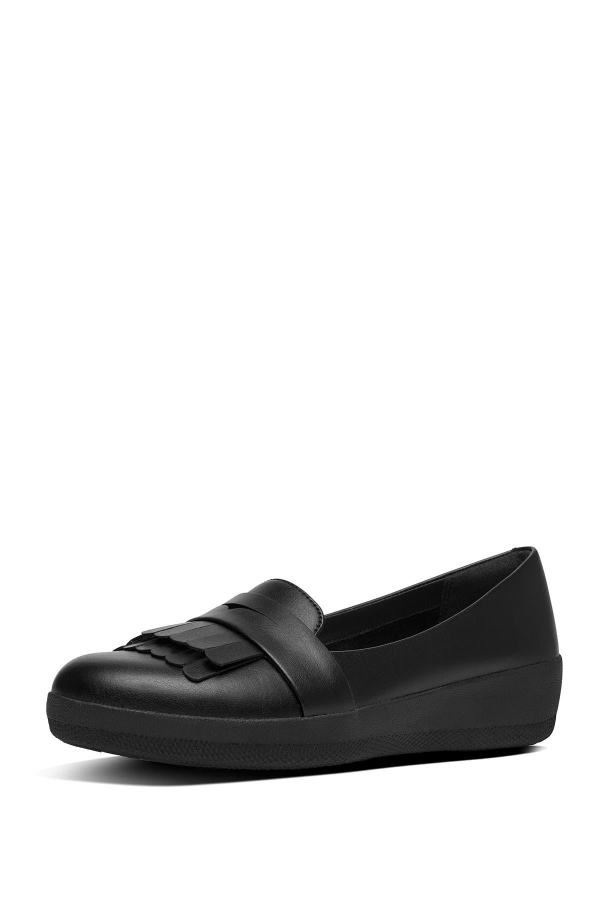 Image of Fitflop Vianne Fringe Trim Sneaker Loafer