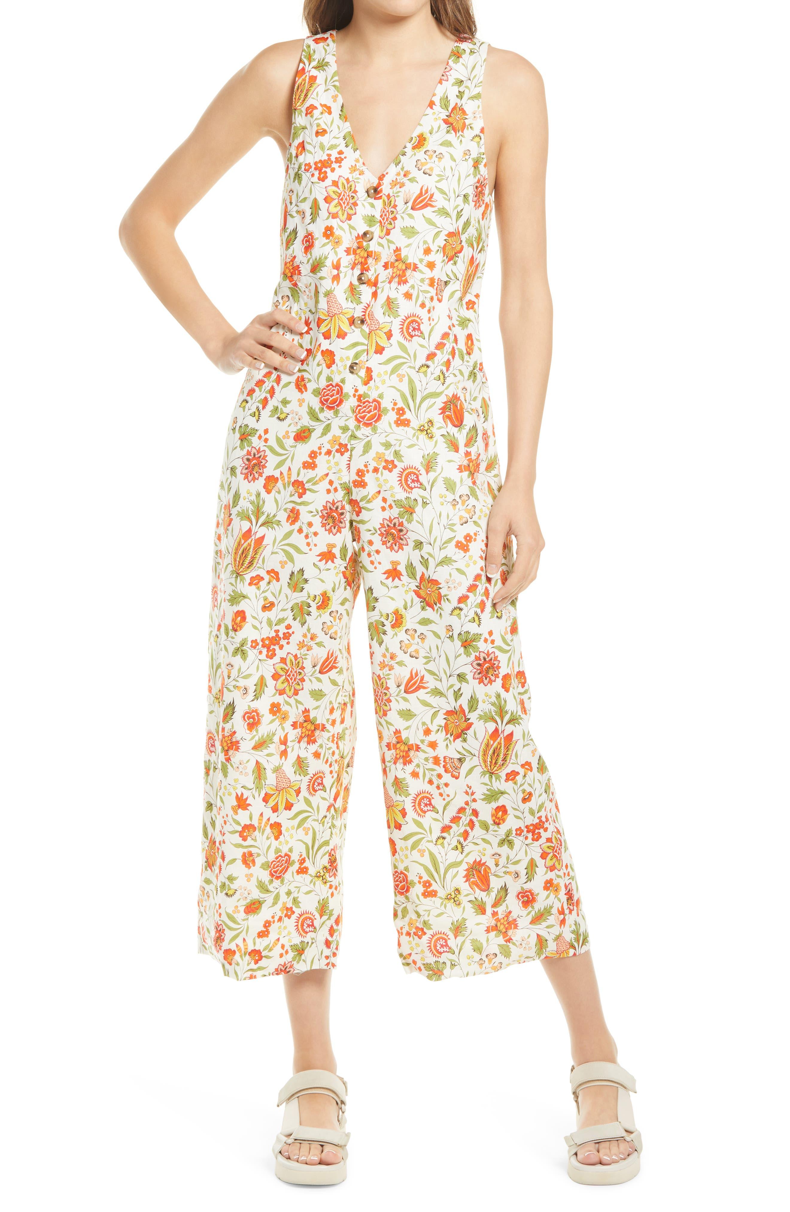 Joey Floral Print Jumpsuit