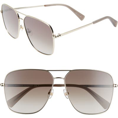 Rebecca Minkoff Stevie3 61Mm Aviator Sunglasses - Gold