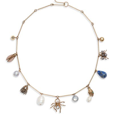 Tory Burch Charm Collar Necklace