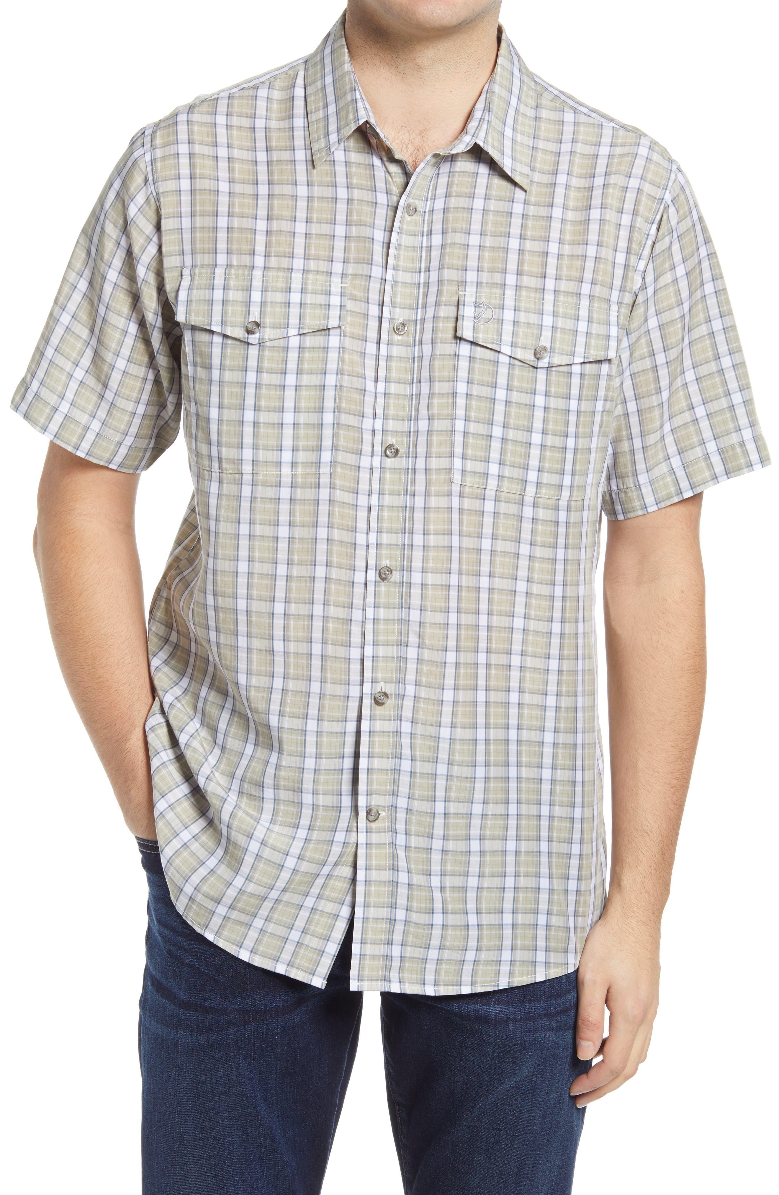 'Abisko Cool' Regular Fit Plaid Sport Shirt