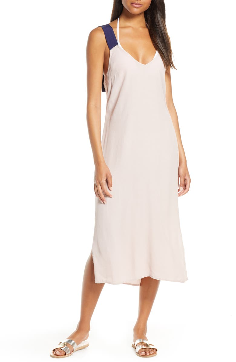 TAVIK Tau Sleeveless Midi Dress, Main, color, CLAY