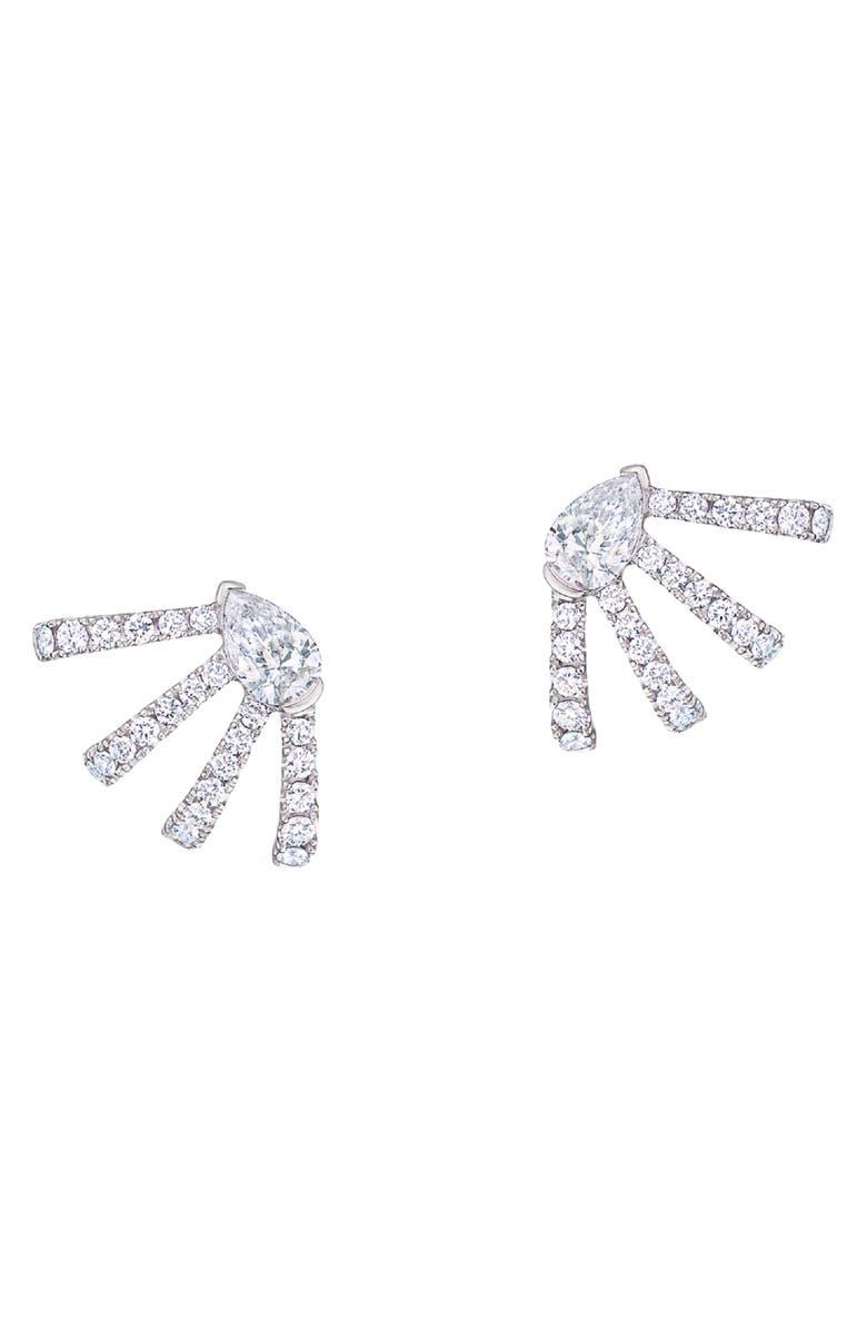 KWIAT Wraparound Diamond Stud Earrings, Main, color, WHITE GOLD