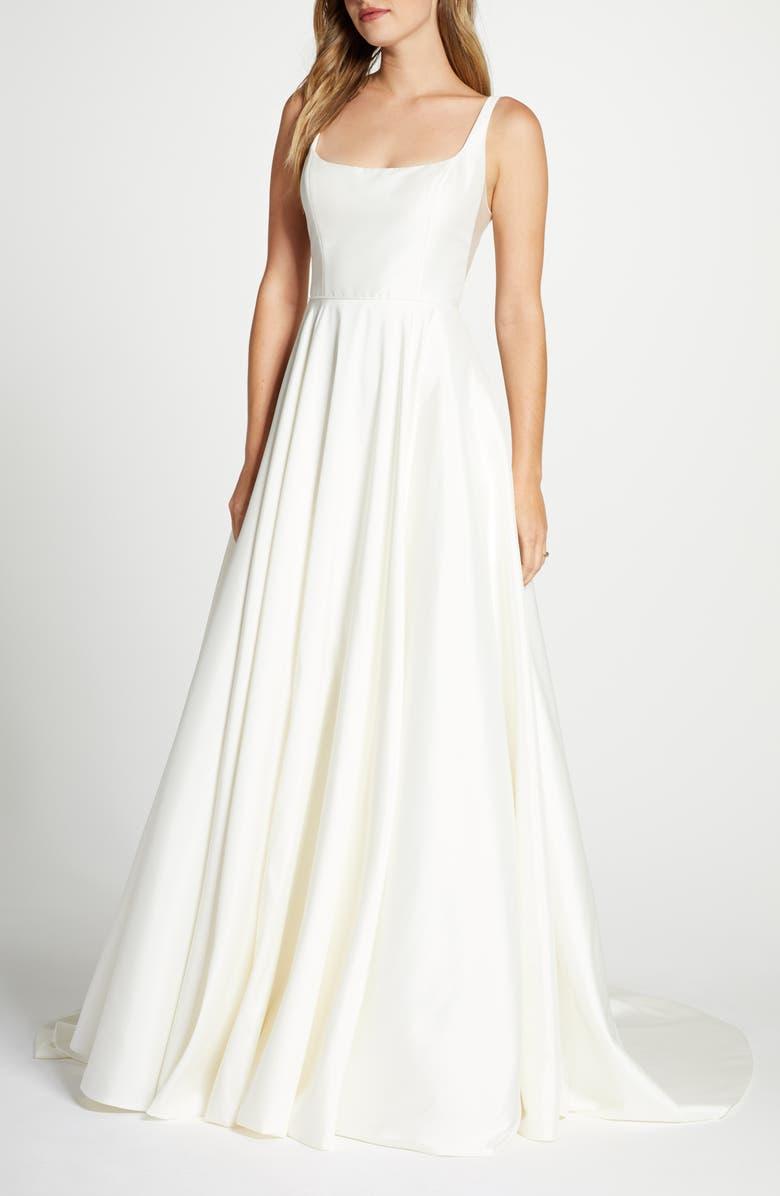 JENNY YOO Collection Lawrence Taffeta Ballgown Wedding Dress, Main, color, 900