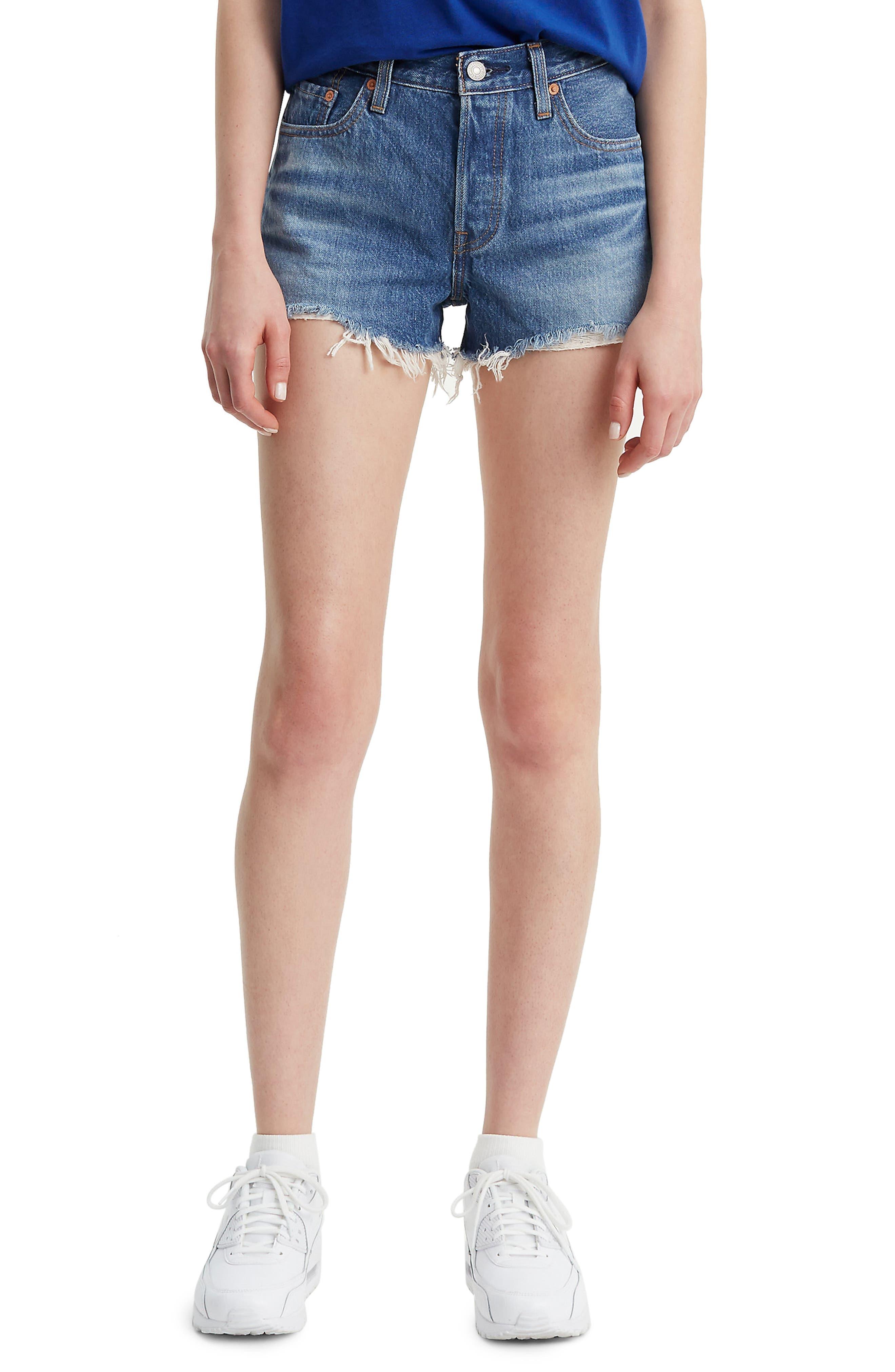 501<sup>®</sup> Cutoff Shorts, Main, color, INDIGO AVENUE