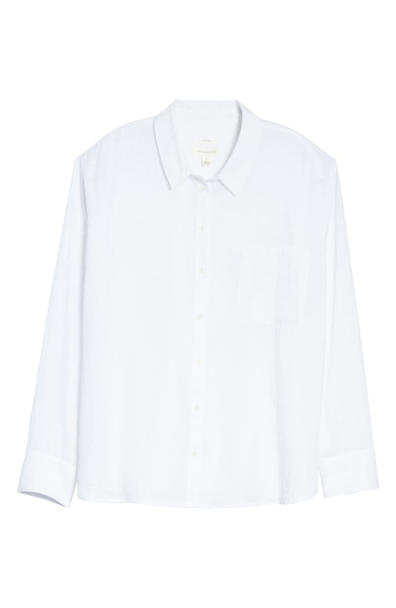 TREASURE & BOND Breezy Boyfriend Shirt, Main, color, WHITE