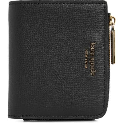 Kate Spade New York Small Sylvia Leather Bifold Wallet - Black