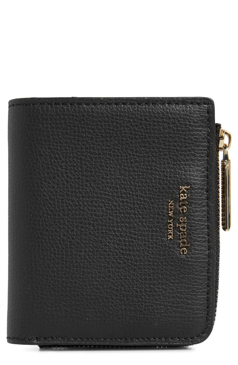 KATE SPADE NEW YORK small sylvia leather bifold wallet, Main, color, 001