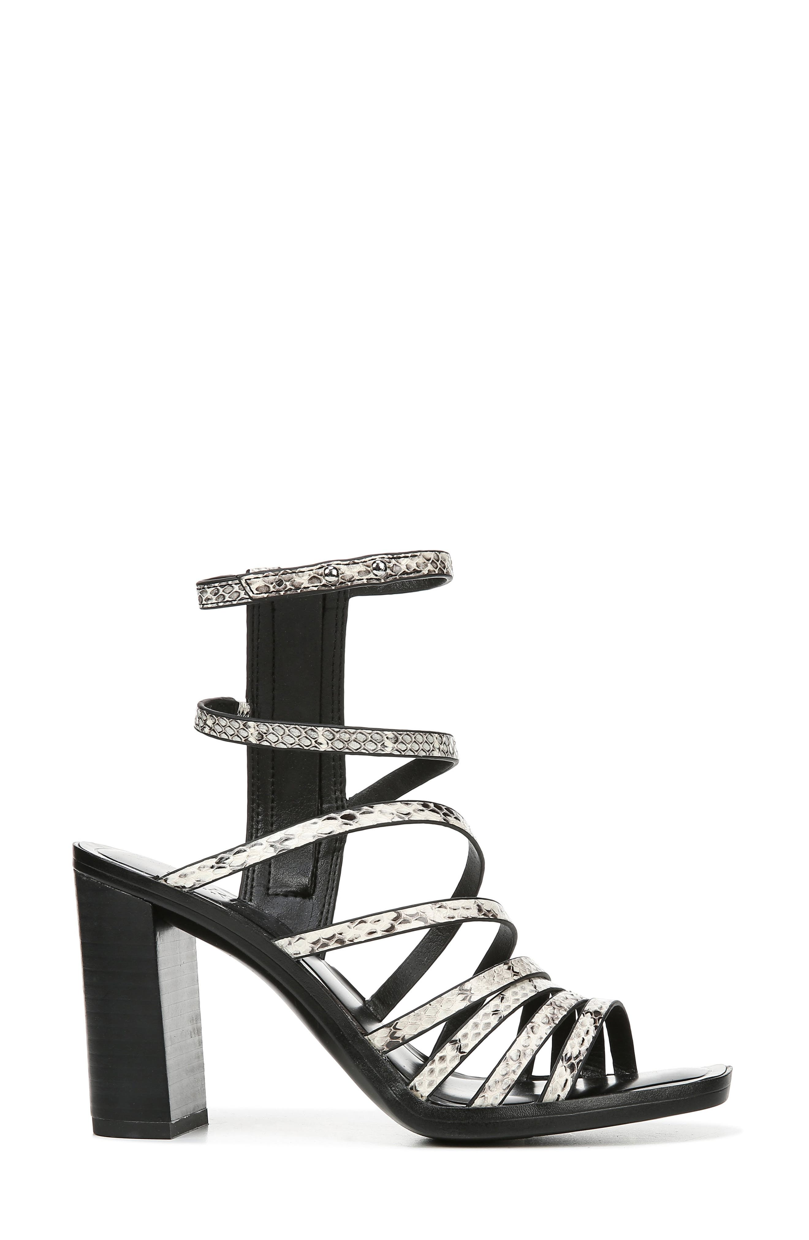 ,                             Winnie Strappy Sandal,                             Alternate thumbnail 3, color,                             BLACK/ WHITE SNAKE PRINT