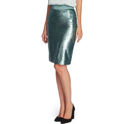 Vince Camuto Sequin Pencil Skirt, Green