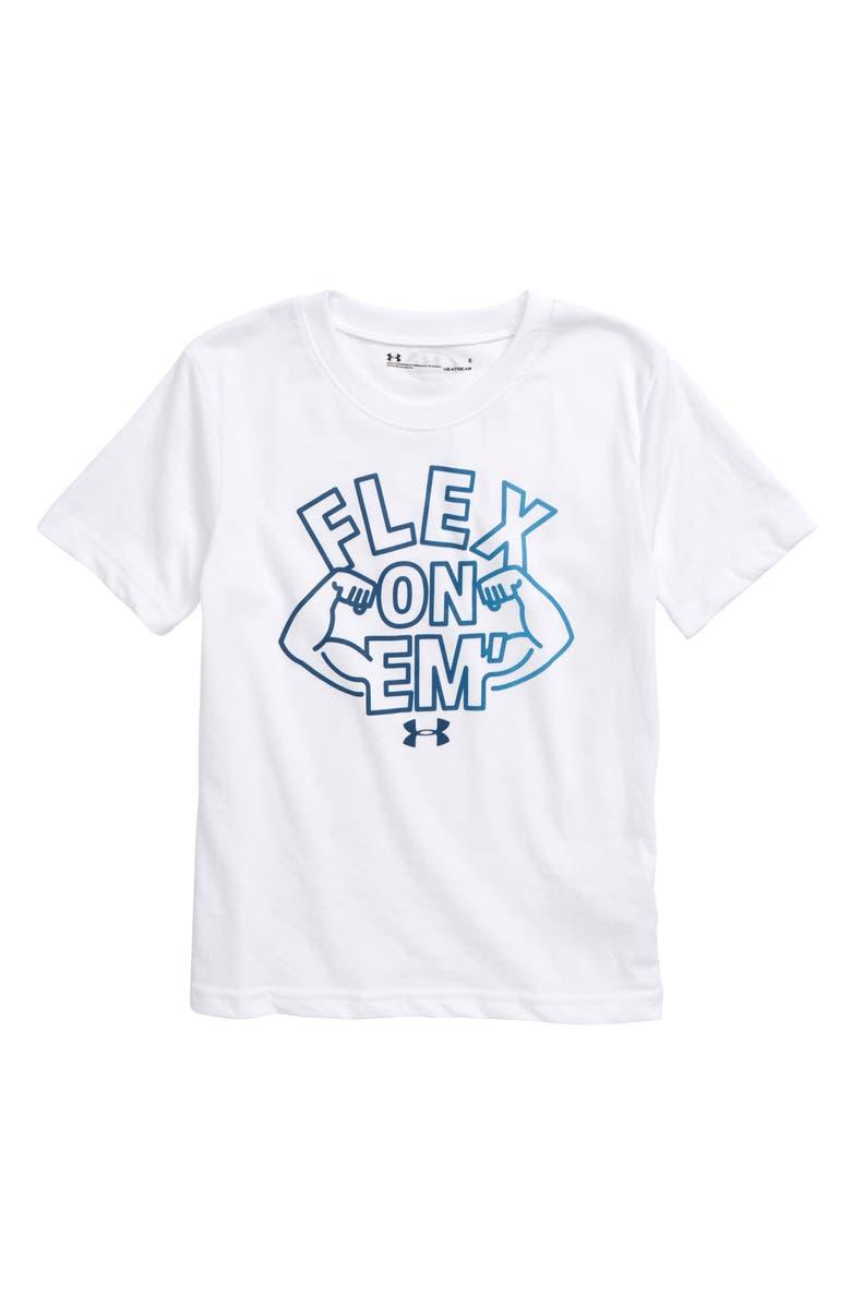 UNDER ARMOUR Flex on 'Em T-Shirt, Main, color, 100