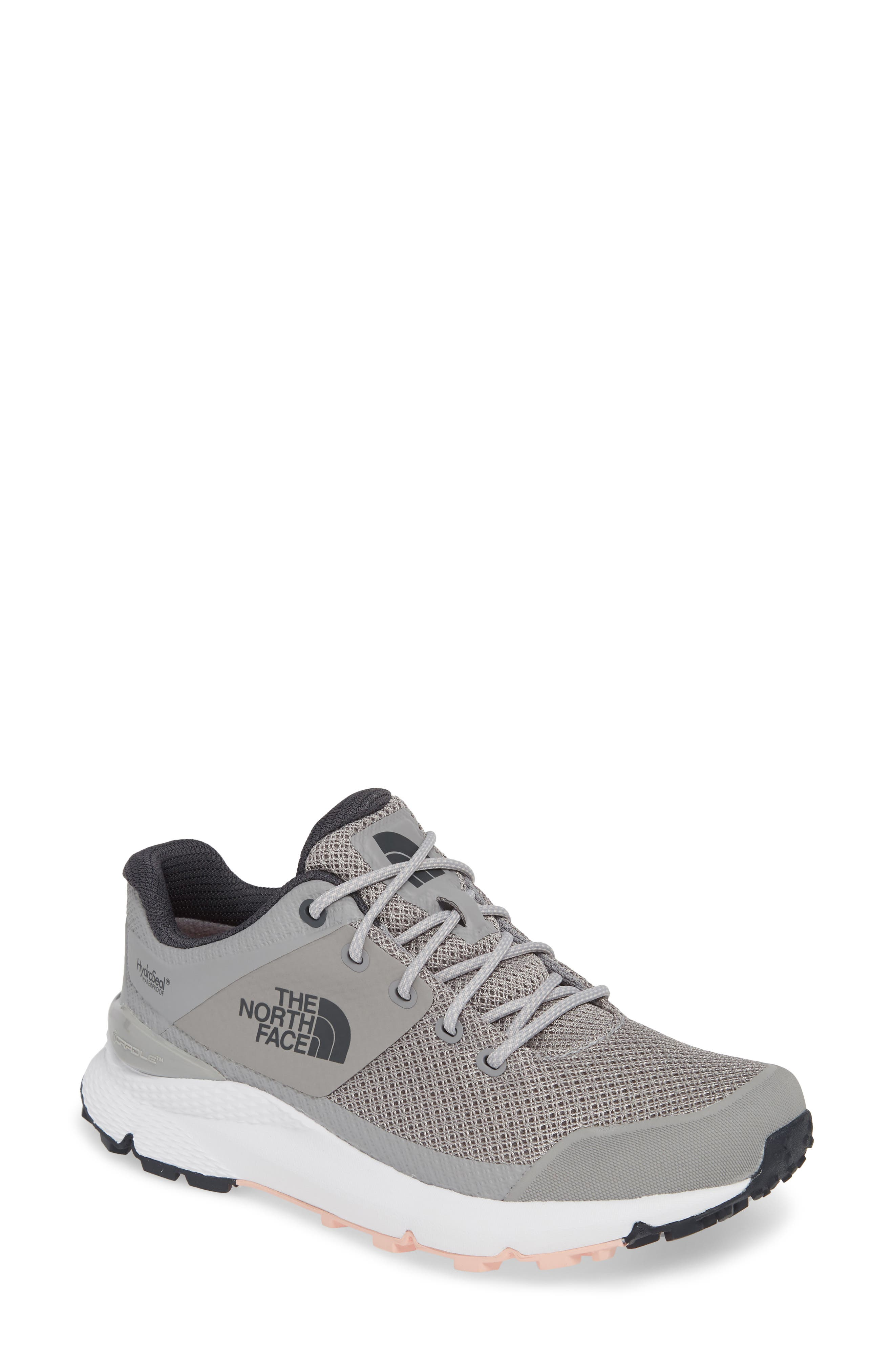 Vals Waterproof Hiking Sneaker, Main, color, MELD GREY/ PINK SALT
