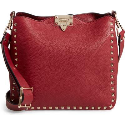 Valentino Garavani Small Rockstud Leather Hobo -