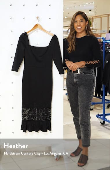 Furla Lace Overlay Cocktail Dress, sales video thumbnail