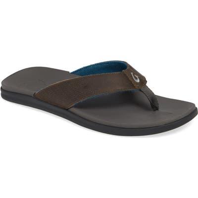 Olukai Alania Flip Flop, Grey