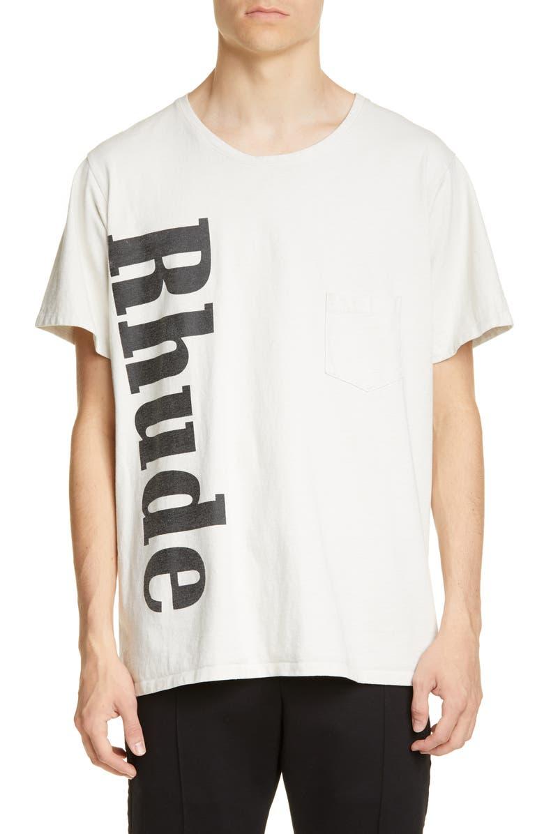 RHUDE Pocket T-Shirt, Main, color, WHITE