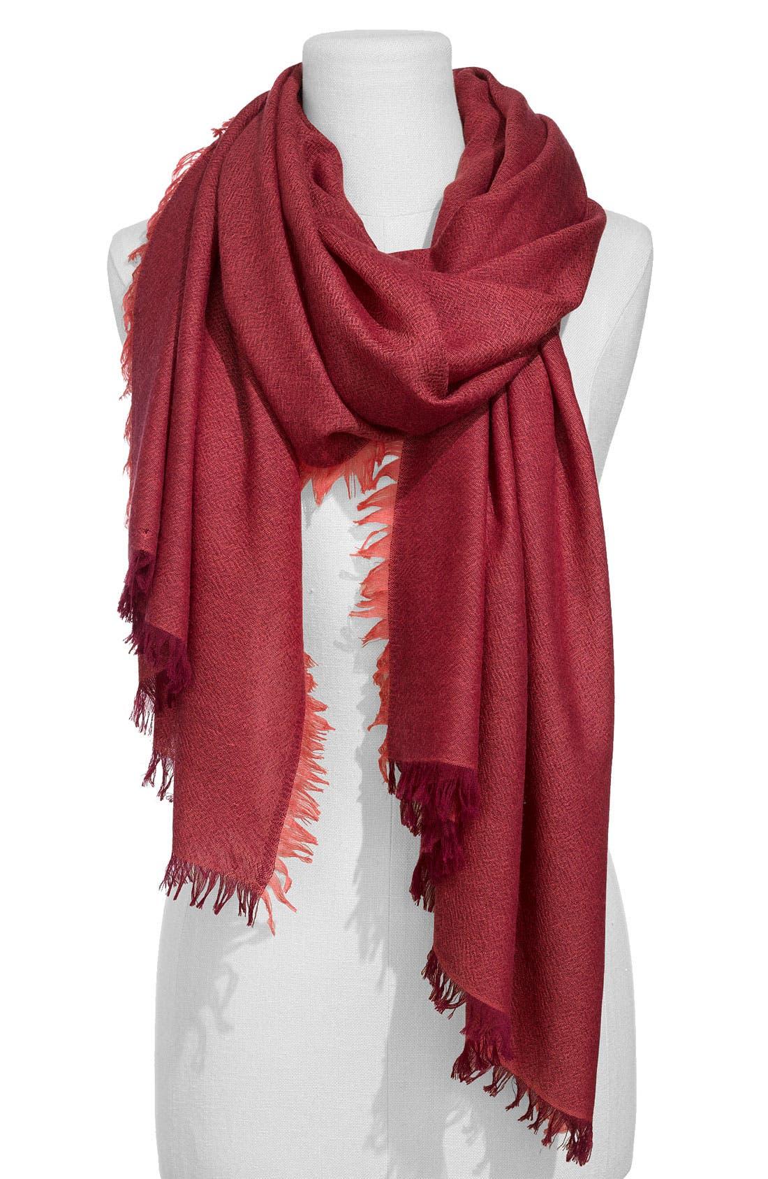 ,                             'Eyelash' Colorblock Cashmere Wrap,                             Main thumbnail 94, color,                             657