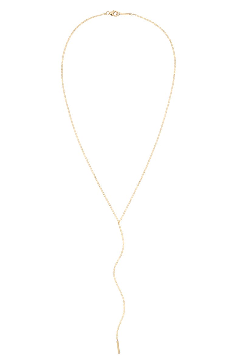 LANA JEWELRY Square Nude Y-Necklace, Main, color, YELLOW GOLD