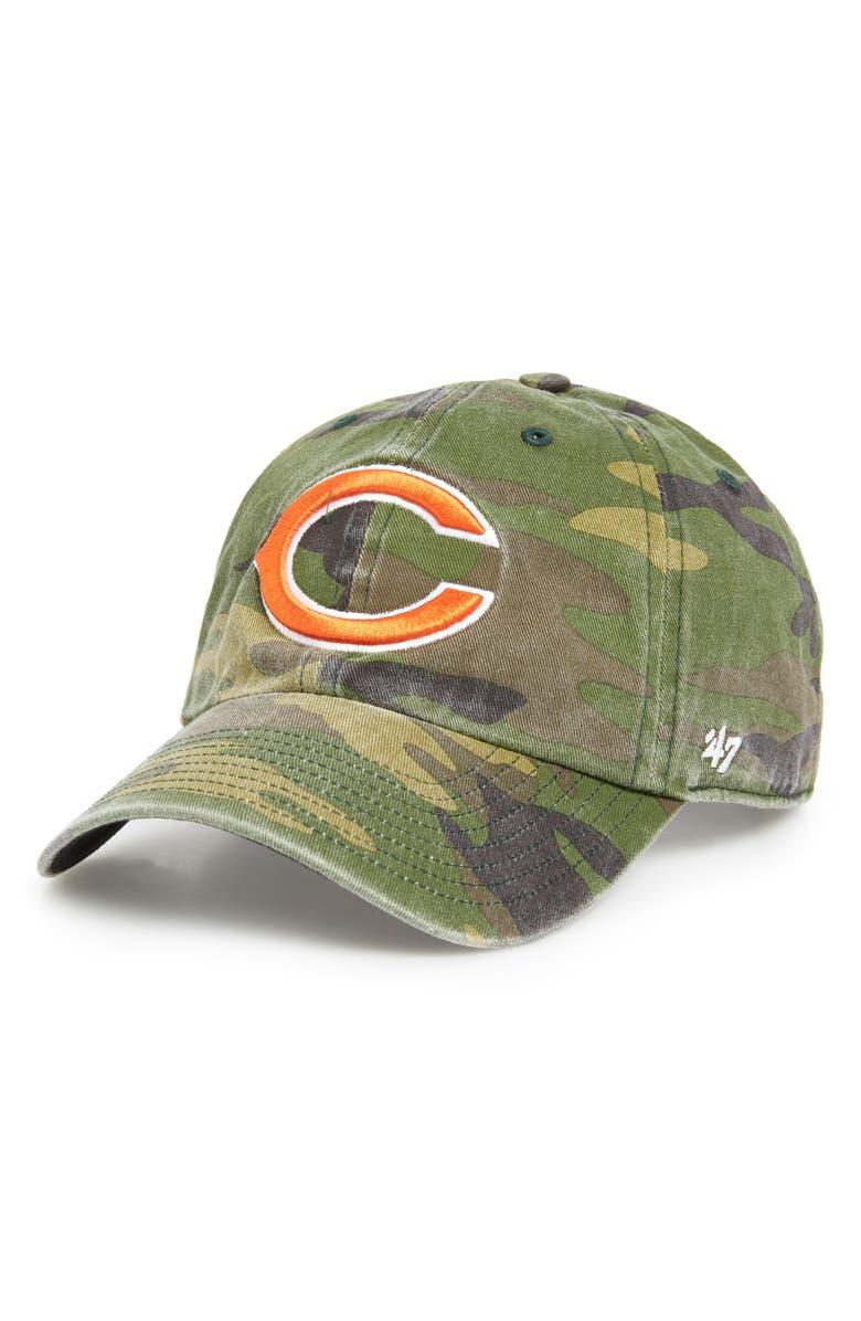 '47 Camo Clean-Up NFL Baseball Cap, Main, color, CHICAGO BEARS