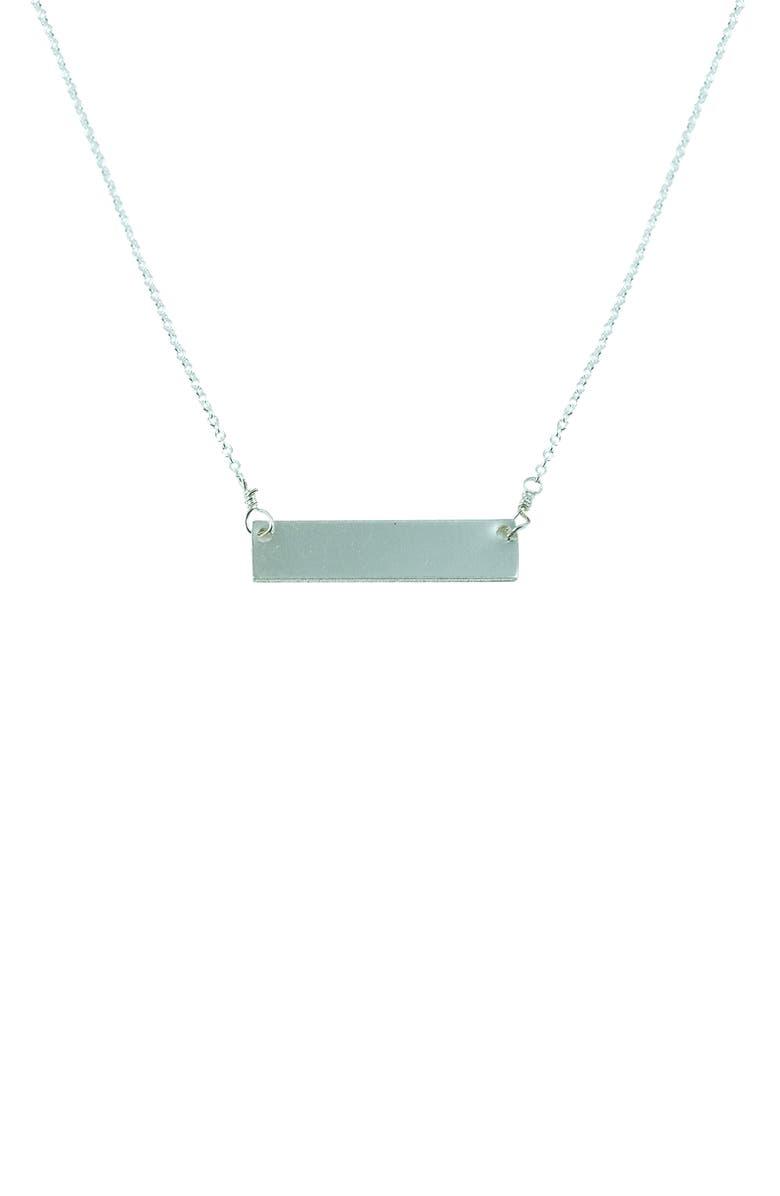 NASHELLE Clean Slate Pendant Necklace, Main, color, SILVER