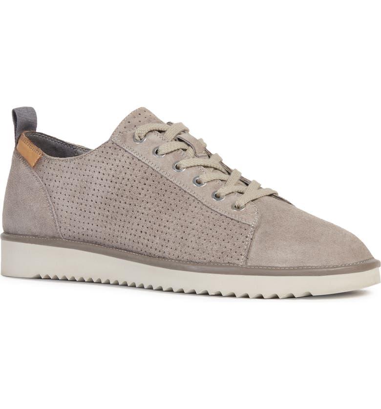 GEOX Dayan 1 Sneaker, Main, color, SMOKE GREY LEATHER
