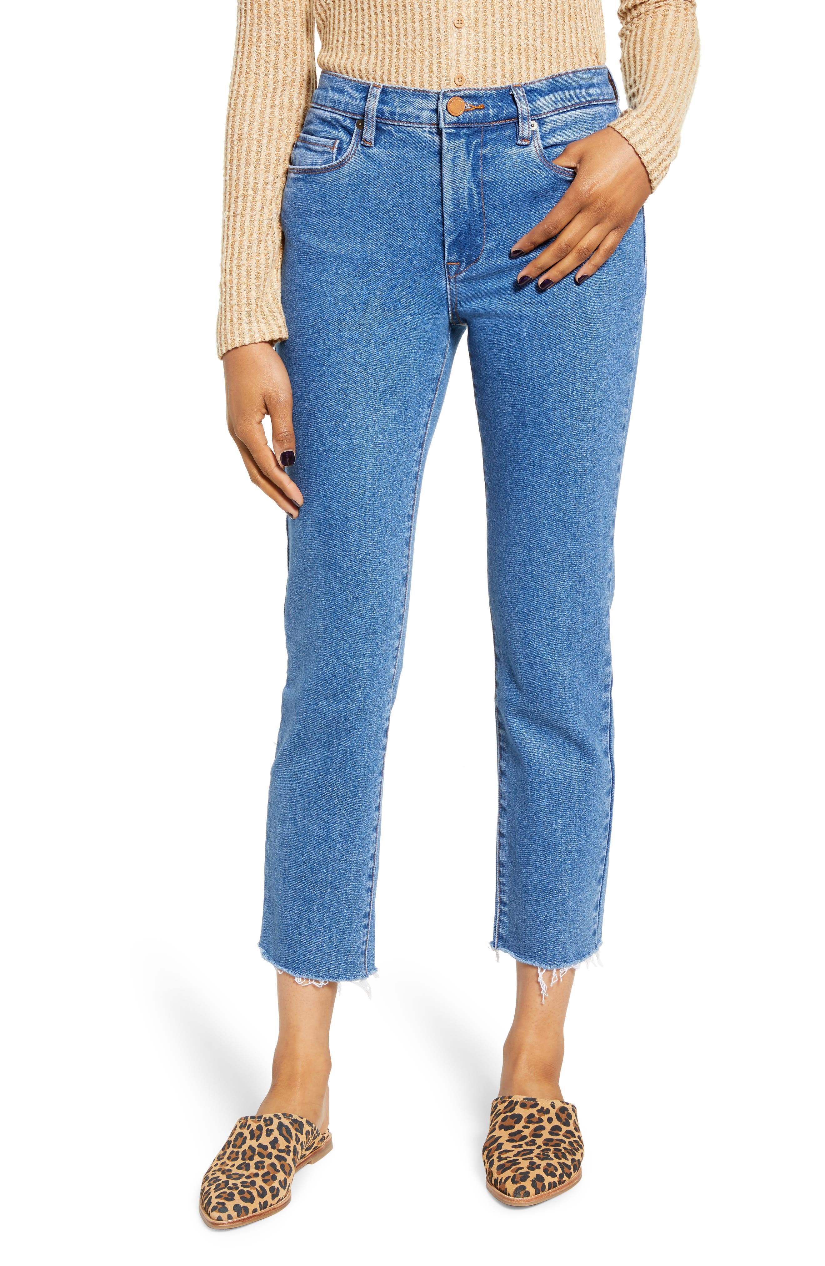 BLANKNYC The Madison Straight Leg Crop Jeans (Varsity Blue)