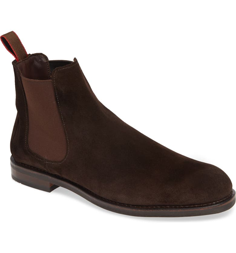 ALLEN EDMONDS Nomad Chelsea Boot, Main, color, CHOCOLATE SUEDE