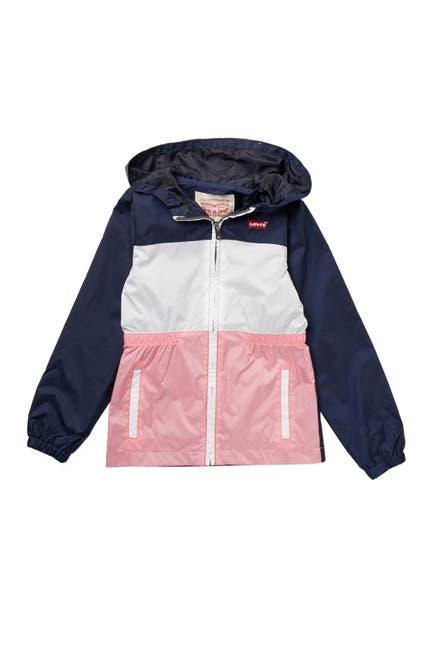 Image of Levi's Colorblock Hooded Windbreaker Jacket