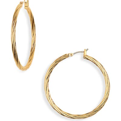 Madewell Twist Hoop Earrings