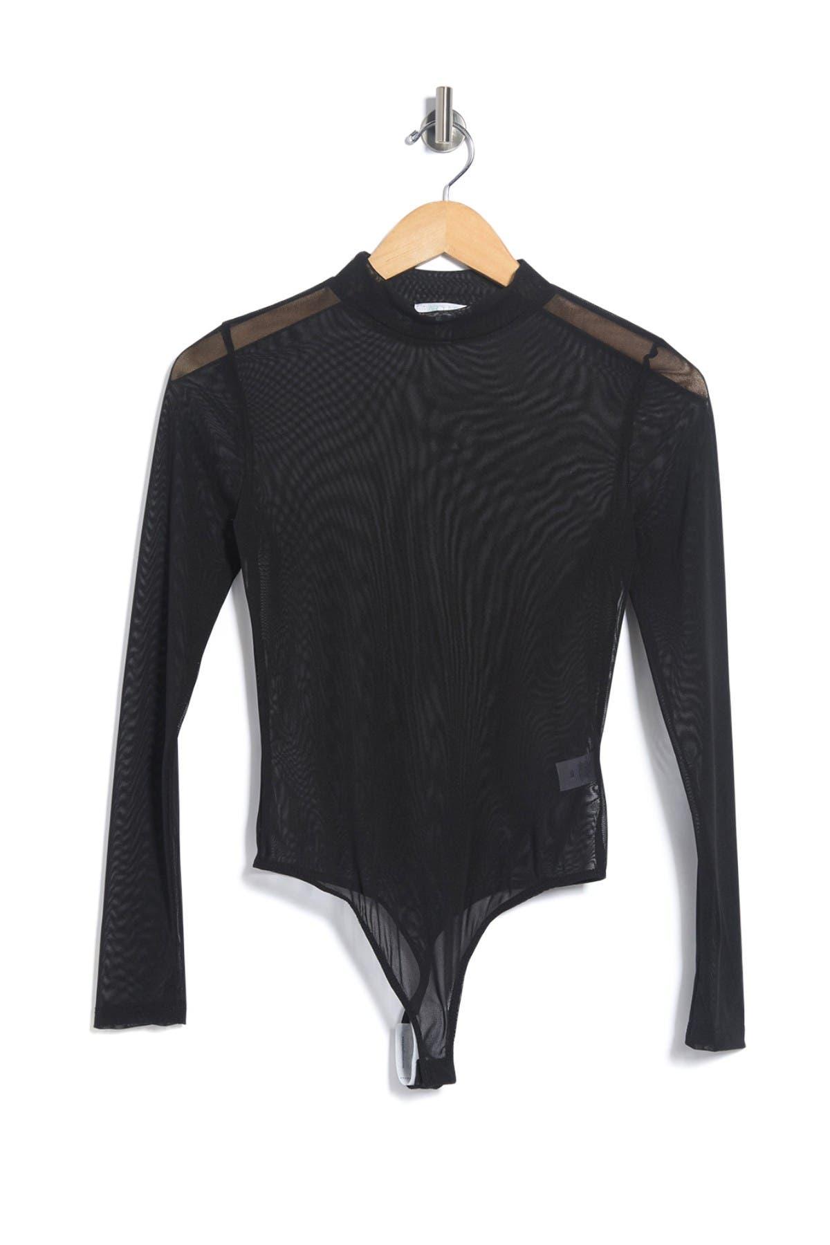 Image of Abound Long Sleeve Mock Neck Mesh Bodysuit