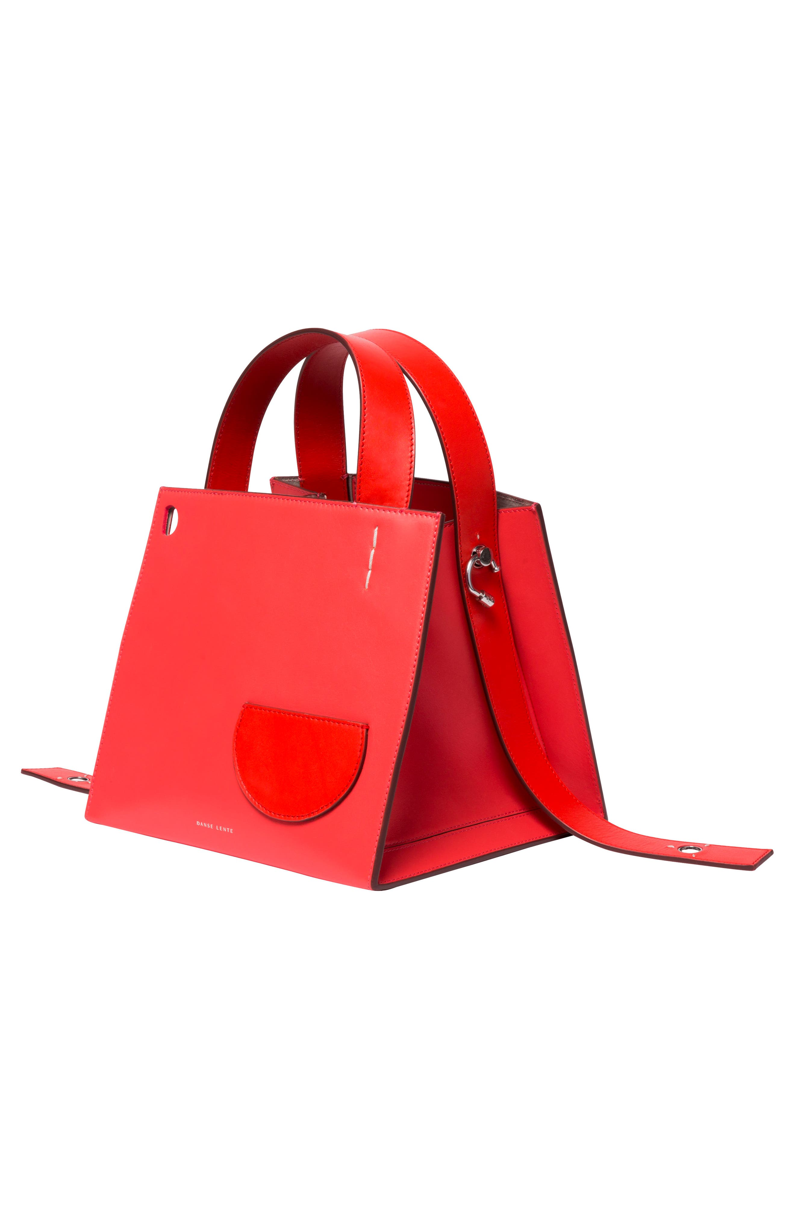 ,                             Margot Leather & Genuine Shearling Tote Bag,                             Alternate thumbnail 6, color,                             CORAL