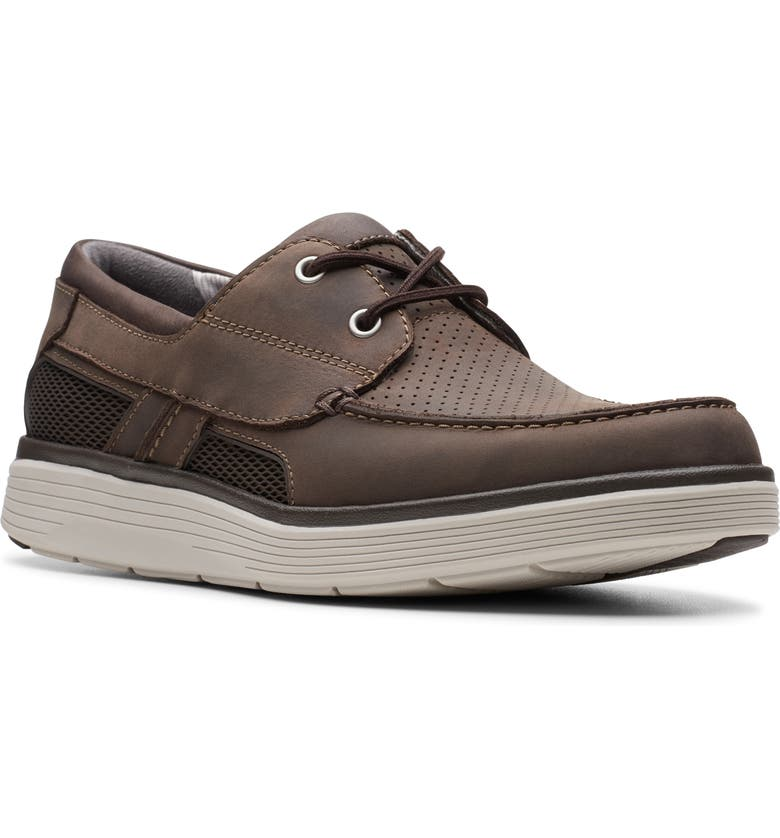 CLARKS<SUP>®</SUP> Un Abode Step Boat Shoe, Main, color, BROWN LEATHER