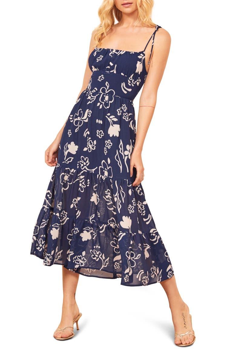 REFORMATION Kealy Midi Dress, Main, color, 400