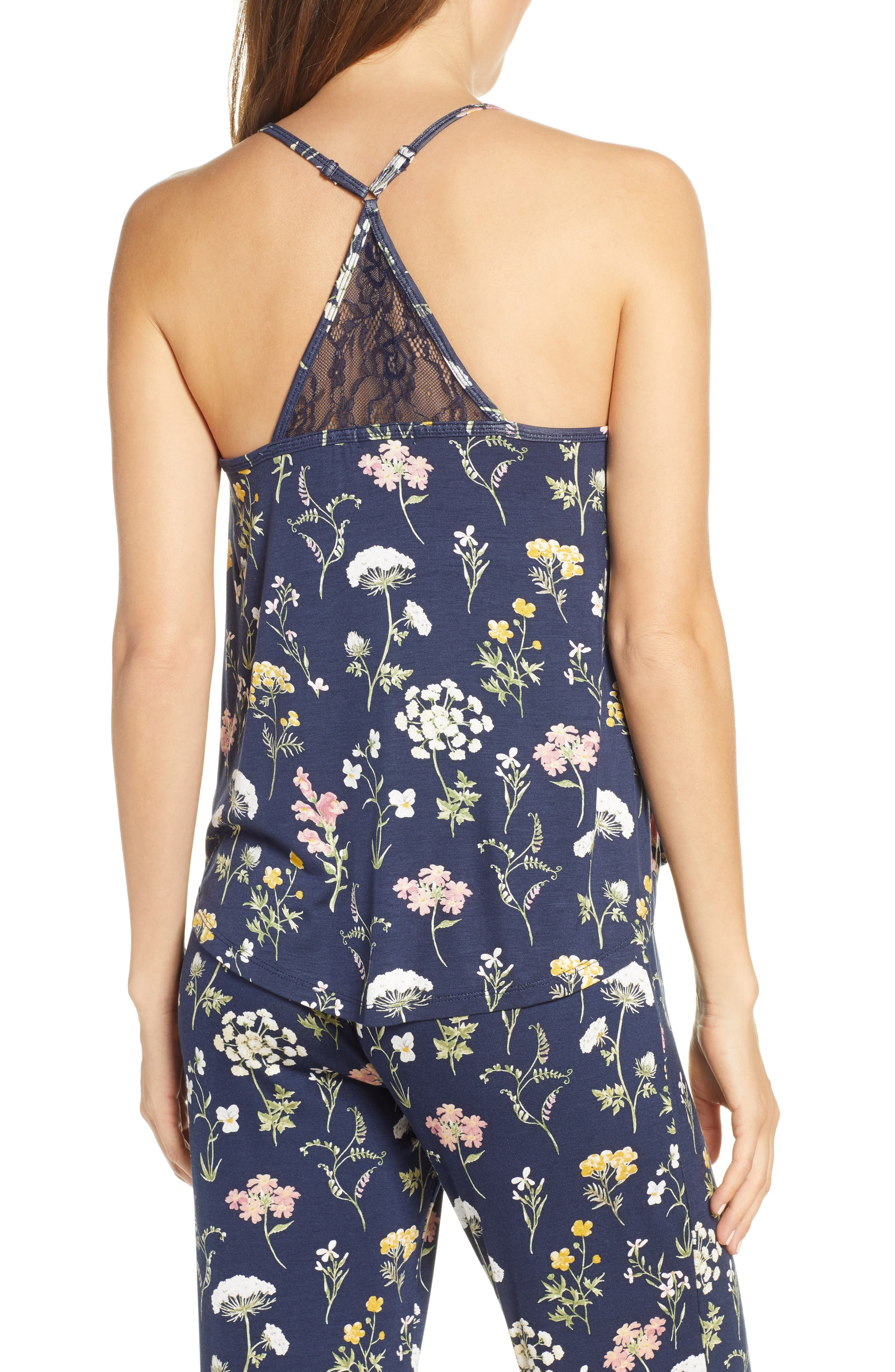 ,                             Dreams Bloom Jersey Camisole,                             Alternate thumbnail 2, color,                             MIDNIGHT BLUE