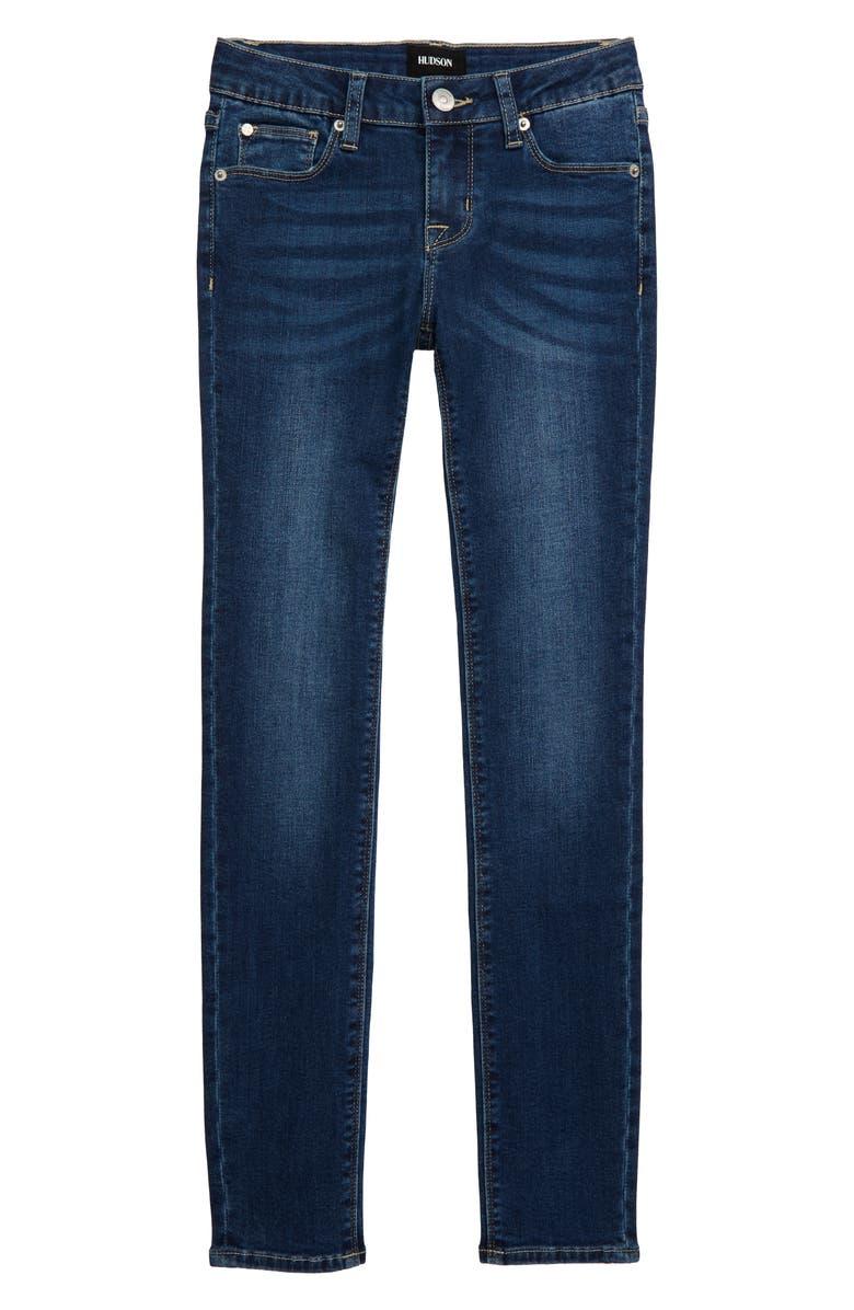 HUDSON JEANS Christa Skinny Jeans, Main, color, FZB-FREEZER BLUE