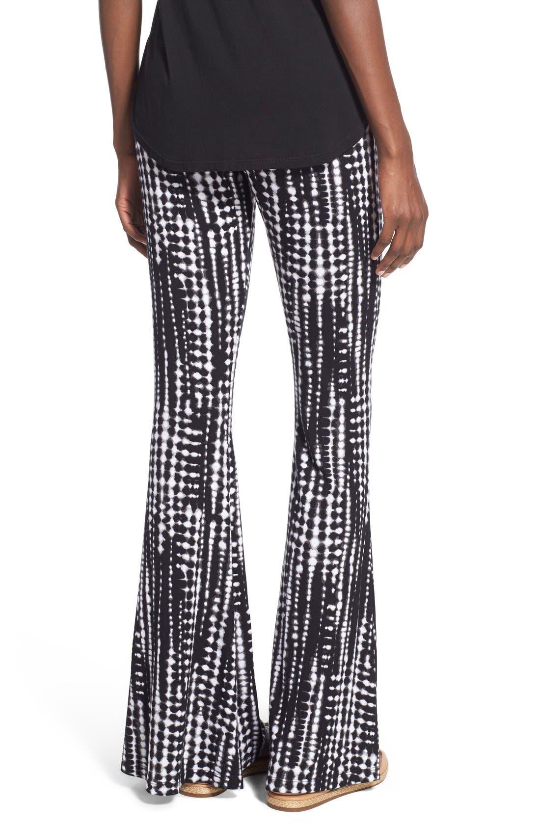 ,                             Mixed Print Flare Leg Pants,                             Alternate thumbnail 43, color,                             014