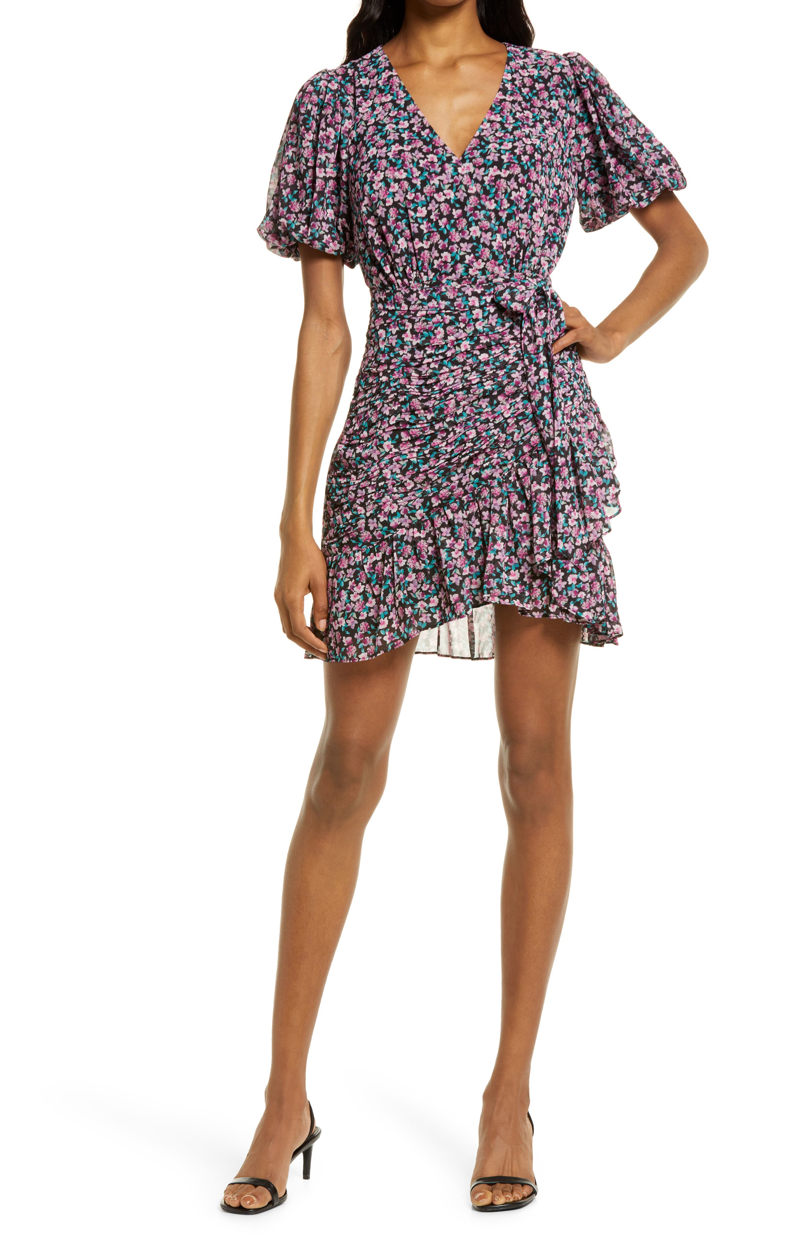 Eleanor Floral Ruched Minidress