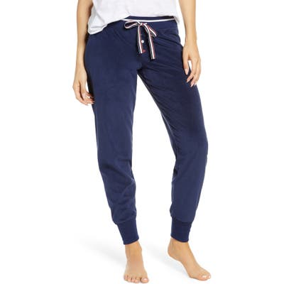 Pj Salvage Oh My Velour Pajama Pants, Blue
