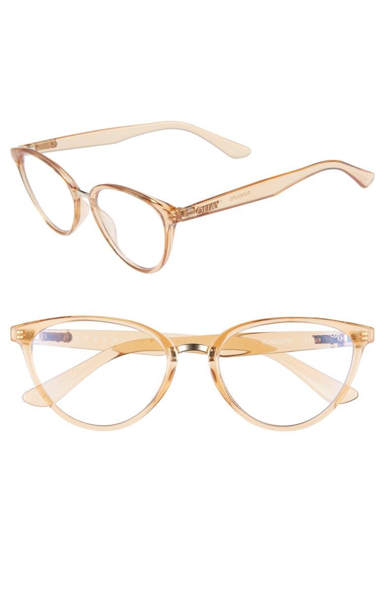 QUAY AUSTRALIA Rumors 57mm Sunglasses, Main, color, CHAMPAGNE